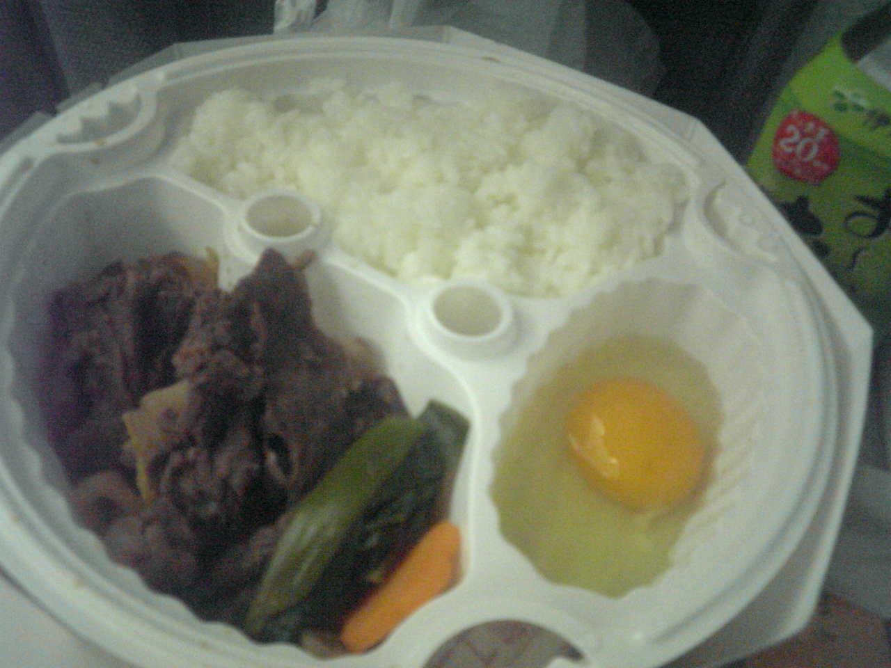 今日の夕食「淡路屋のすき焼き弁当」